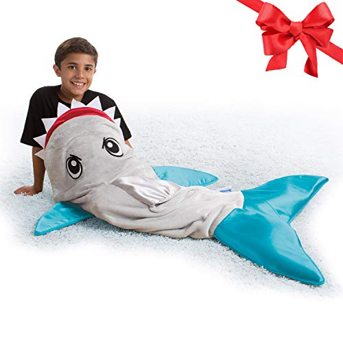 Snuggie Tails Shark Blanket- Wearable Blanket for Kids, As Seen on TV -$10.99(45% Off)
