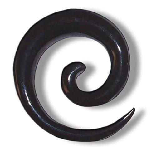 Island Piercings PAAR Dehnungsspirale Spirale Sichel Horn 3mm