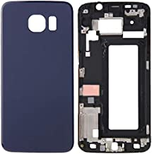 DEAN Phone Compatible With Samsung Galaxy S6 Edge / G925 Parts Full Housing Cover(Front Housing LCD Frame Bezel Plate + Battery Back Cover) Authentic Quality (Color : Blue)