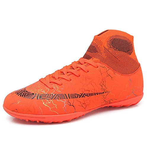 Competition shoes Botas de fútbol de cuero Pasto de cuero Fútbol al aire libre Entrenamiento deportivo Zapatos de deportes para niños Hombres y mujeres Nacidas largas Zapatos de fútbol, niños antide
