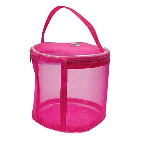 Bolsa De Almacenamiento,STRIR Bolsa De Almacenamiento De Hilo Para Tejer De Lana (Rosa Roja)