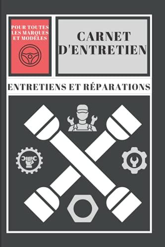 carnet d'entretien : convient pour tout types de véhicules , voitures , motos et scooter avec pages préfabriquées vierges