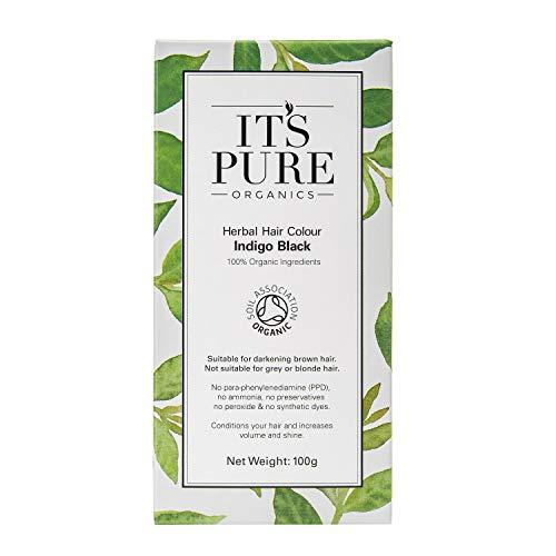 Organic Hair Dye - Herbal Hair Colour Indigo Black by It's Pure Organics