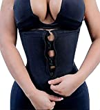 IMUZYN Waist Trainer for Women Weight Loss Body Shaper Workout Corsets Cincher Trimmer Shapewear Tummy Control Girdles Fajas Colombianas Black L