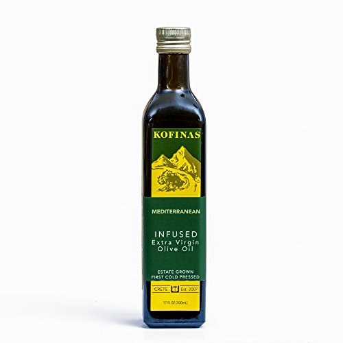 Mediterranean Flavored Extra Virgin Cold Pressed Olive Oil 500 Ml (17 Oz) (Mediterranean: Rosemary, Oregano, Thyme, and Basil Flavor)