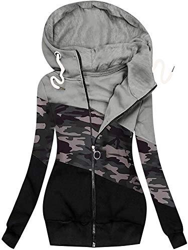 KTZAJO 2021 El último abrigo de la rebeca de la mujer, invierno Casual Color sólido chaquetas de punto, más el tamaño de manga larga ropa de abrigo