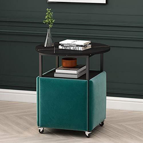YANGYUAN Mesa Moderna de Lujo de mármol de mármol y una combinación de sillas de Comedor, Mesa y Mesa de Comedor pequeño, Adecuado para salón, Sala de Estar, Oficina (Color : Negro)