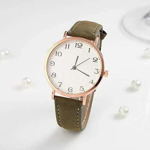 Powzz ornament Reloj de pulsera ultrafino e informal, con correa congelada por aire, para hombres y mujeres, reloj de cuarzo, color verde