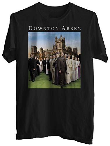 Downton Abbey Family Full Cast Adult T Shirt,T-Shirts & Hemden(Large)