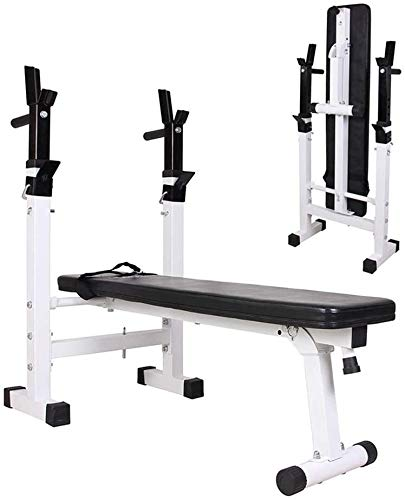 HZC Sit Up Bench Adjustable Folding Weight Bench with Dip Station, Heavy Duty Multi Sit Up Workout Barbell Lifting Chest Press Home Gym Exercise Fitness