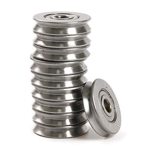 20pcs 1.5mm Deep Metal V Groove Guide Pulley Rail Ball Bearings Wheel 4136mm