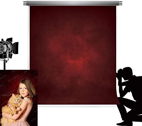 Kate Fotografía Telón de Fondo 1,5x2,2m Rojo Negro Degradado Resumen Fondos Oscuros Fondo de Estudio Plegable Vintage Textura de Terciopelo Lavable Tapiz Decorativo