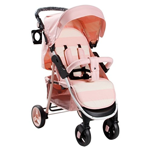 My Babiie MB30 Billie Faiers Pink Stripe Stroller - Includes Raincover