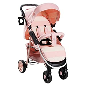My Babiie MB30 Billie Faiers Pink Stripe Stroller - Includes Raincover   1