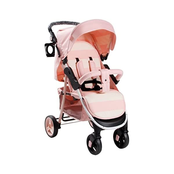 My Babiie MB30 Billie Faiers Pink Stripe Stroller - Includes Raincover babieswithlove Compact Fold Includes Raincover Lockable swivel front wheels 1