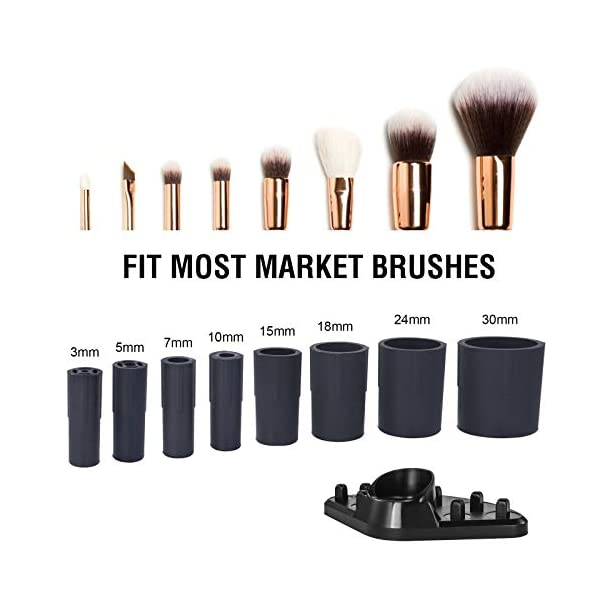 Arti-Cipes Makeup Brush Cleaner,Super Fast Electric Make Up Brush Cleansers,With 8 Size Rubber Collars Make Up Brush…