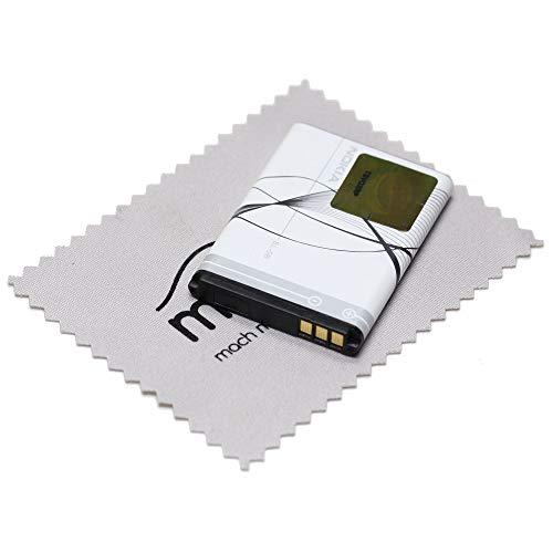 Batteria originale Nokia BL-5B agli ioni di litio per Nokia 3200 5070 5140 5200 5300 5500 6021 6060 6120 6124 7260 con panno di pulizia per display mungoo