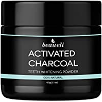 Beaueli Activated Charcoal Teeth Whitening Powder, 2.1 Oz