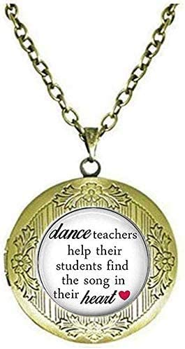 Ballet Teacher Locket Necklace Dance Gift Dance Recital Gift Art Picture Jewelry