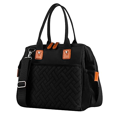 esafio Picknicktasche isolierte Kühltasche Lunchtasche mit verstellbarem Schultergurt, Picknick-Kühltasche für Camping, Shopping, Reisen, Grillen, Familie Outdoor-Aktivitäten (Dunkelgrau)
