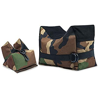 Twod Outdoor Shooting Rest Bags Rest Front & Rear Support SandBag Stand Holders with 900 Denier Polyester Durable Construction and Water Resistance for Rifle Hunting- Unfilled-Camouflage