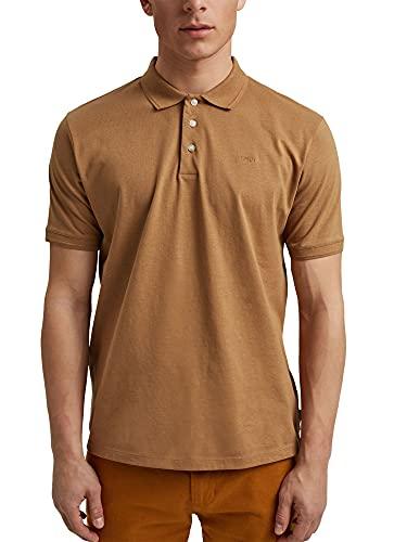 ESPRIT Mit Leinen/Organic Cotton: Jersey-Poloshirt