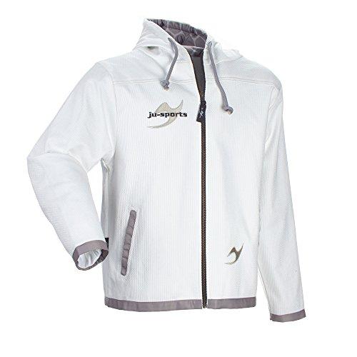 Ju-Sports Veste Street à Gi Capuche zippé Fermeture Éclair pour Homme White Large Blanc