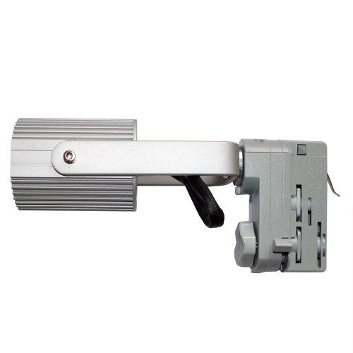3-Phasen PAR Strahler mit Porzellanfassung E27 passend für Erco Staff Ivela silber