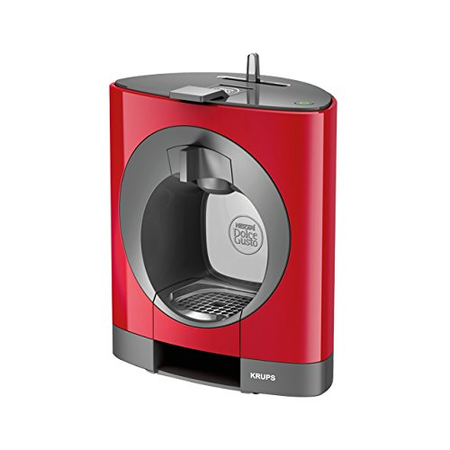 Krups OBLO Red Pod coffee machine 0.8L Gris, Rojo - Cafetera (Independiente, Pod coffee machine, Coffee capsule, Gris, Rojo, Café largo, Capuchino, Café expreso, Latte macchiato)