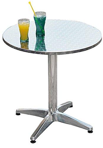 PEGANE Table Jardin en Aluminium et Plateau en Acier - A Usage Professionnel- Dim : H 71 x Ø 70 cm