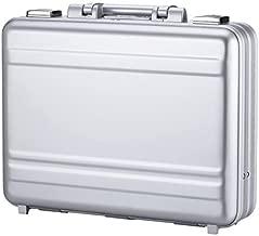 Tokers Metal briefcases for men Aluminum Attache cases Gun Metal 14 Inch 14.5X10.6X4.5inch