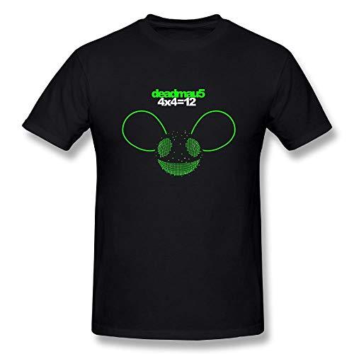 Welikee T-Shirt, Herren-Kurzarmshirt, Men's Deadmau5 4x4=12 Cotton T Shirt Black