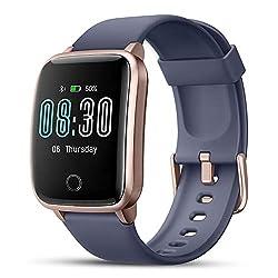 Smartwatch, LIFEBEE Fitness Armband Fitness Tracker Touchscreen IP68 Wasserdicht Fitness Uhr mit Stoppuhr Schrittzähler Smart Watch für Damen Herren Armbanduhr Sportuhr für iOS Android-Blau