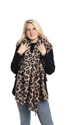 Emilie Scarves Winter sjaal dames - panterprint luipaard - 200 * 87CM