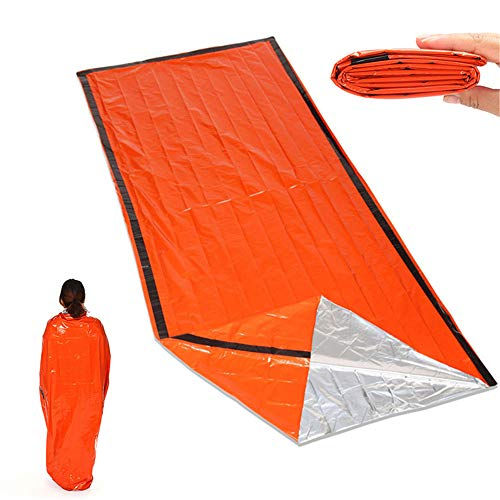 Emergency Survival Slaapzak, Emergency Bivy Sack, Emergency Survival Deken, Ultralight Waterproof Thermal voor Outdoor, Kamperen, Wandelen, Auto Emergency, 2-Pack