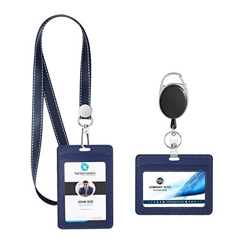 HIFOT Funda de Tarjeta de Identificación con Acollador Nombre etiqueta Badge Id Tarjeta Cordón de Nylon Extensible para Estudiantes Negocios Oficinas y Exposiciones