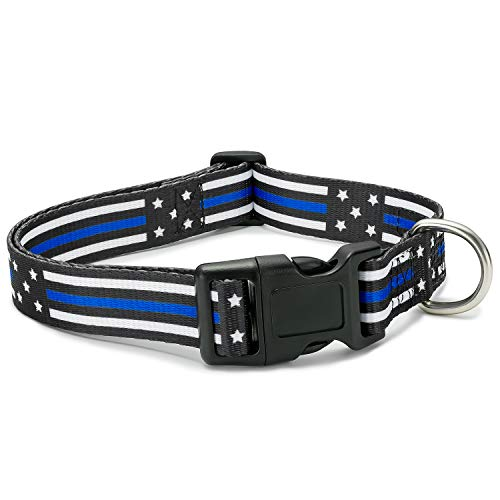 Thin Blue Line Dog Collar (Large)