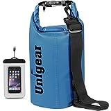 Unigear Borse Impermeabile, Sacche Impermeabili Dry Bag per Trekking, Kayak, Pesca, Rafting, Campeggio, Sci con Omaggio Gratuito di Una Custodia Telefono Impermeabile