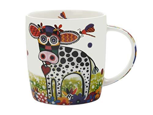 Maxwell Williams Mug coloré en porcelaine Motif vache avec inscription Betsy Multicolore, Porcelaine, café, Betsy (Cow)