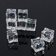 [FUPUONE] ディスプレイ 氷 アイス 角氷 かち割り アクリル 透明 (角氷20mm/70個)