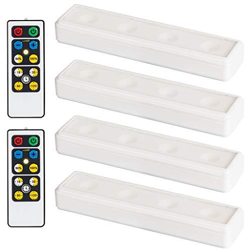 Brilliant Evolution Wireless LED Under Cabinet Light with Remote Control | LED Under Cabinet Lighting | Closet Light | Battery Powered Lights | Under Counter Lighting | Stick On Lights
