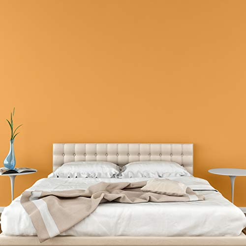 Removable Solid Wallpaper - Peel and Stick Paint - 23.5 inches Wide by 32 feet Long Roll (Sante Fe Twilight Orange)