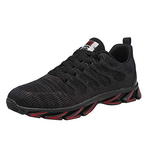 Wanderschuhe Herren Netz rutschfest Laufschuhe leicht Sportschuhe Turnschuhe Trainers Running Fitness Atmungsaktiv Sneakers Trekking Schuhe Sport Outdoorschuhe straßenlaufschuhe TWBB