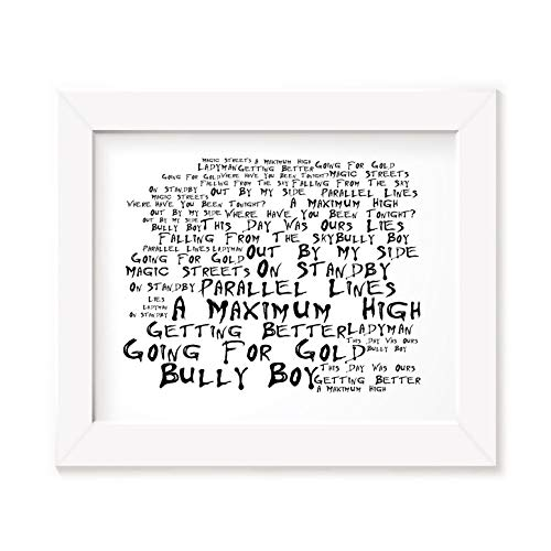 Shed Seven Poster Print - A Maximum High - Lyrics Gift Signed Art