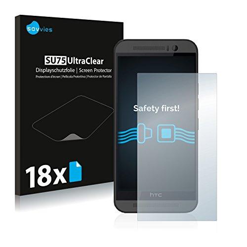 savvies 18-Pezzi Pellicola Protettiva Compatibile con HTC One M9 Protezione Schermo Trasparente