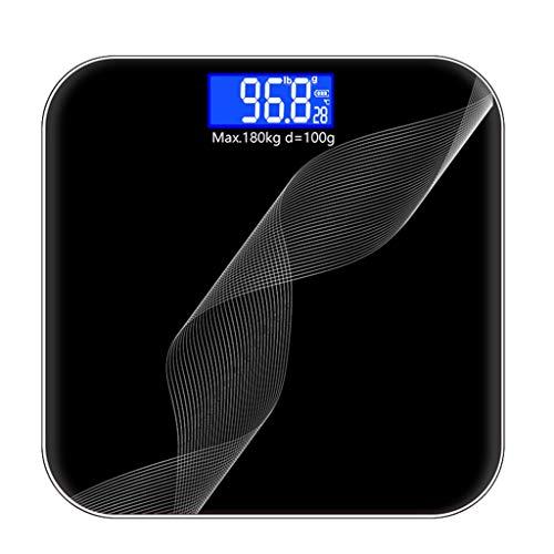 Digital Body Weegschaal, Weegschaal Met Groot Display, 400 Pond 180kg Max, 6mm Gehard Glas, Body Composition Monitor Analyzer