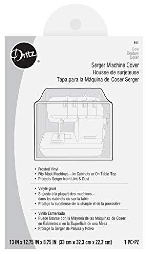"Dritz Machine Cover - Serger Dust Cover - 13"" x12-3/4 x8-3/4, Clear Vinyl"