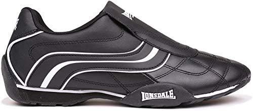 Lonsdale Hombre Camden Slip Zapatillas Deportivas Negro/Blanco 45