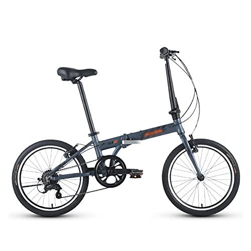 GWL Bicicleta Plegable Bicicleta Plegable de aleación de Aluminio de 20 Pulgadas 6 velocidades Z2 Mini Bicicleta Ligera para Hombres y Mujeres con Velocidad Variable/A