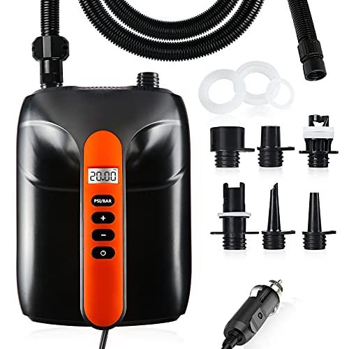 AOLVO Pompa ad aria elettrica per gommone, 2a Gen con spegnimento automatico PSI preimpostato, max...